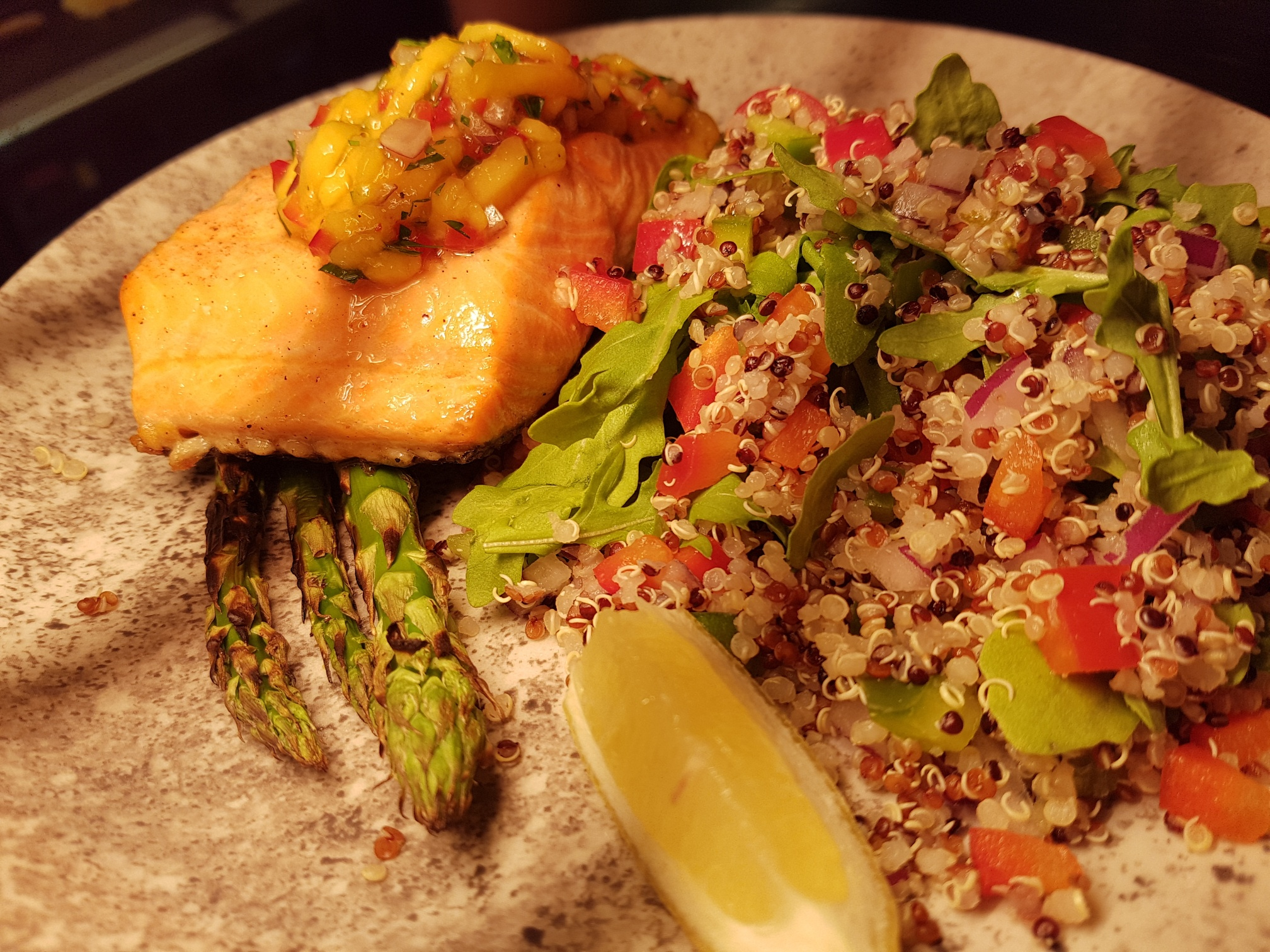 Salmon and quinoa salad